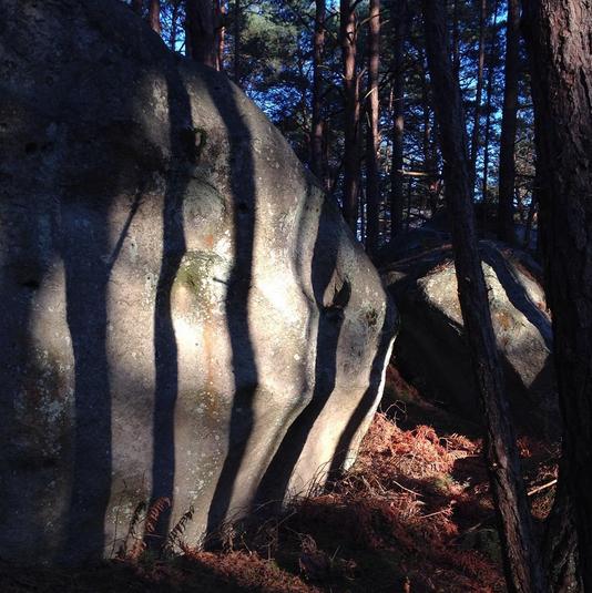 ombre sur rocher
