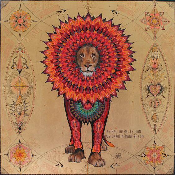 Lion Mandala Caroline Manière